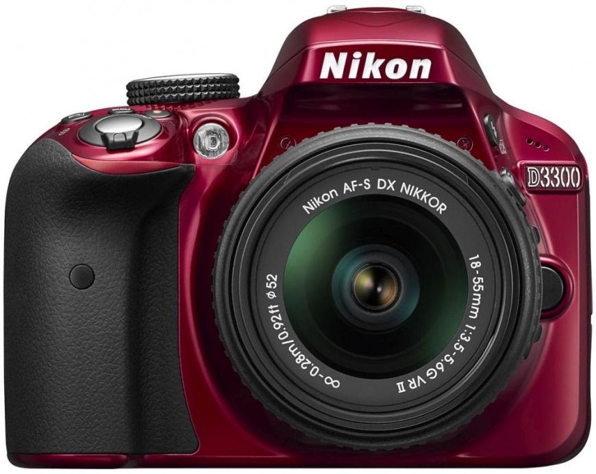 Nikon D3300 18-55VR II red