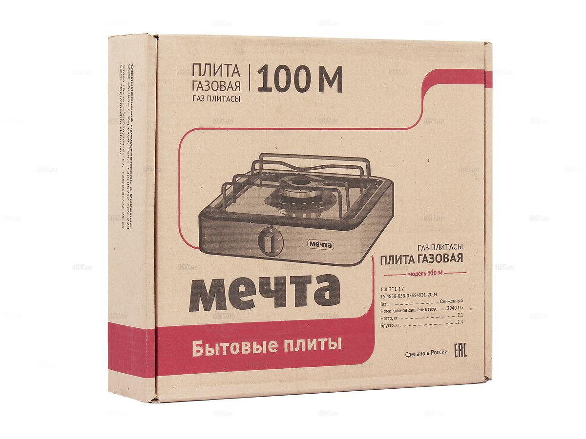Фото Плитка газовая МЕЧТА 100 М белая
