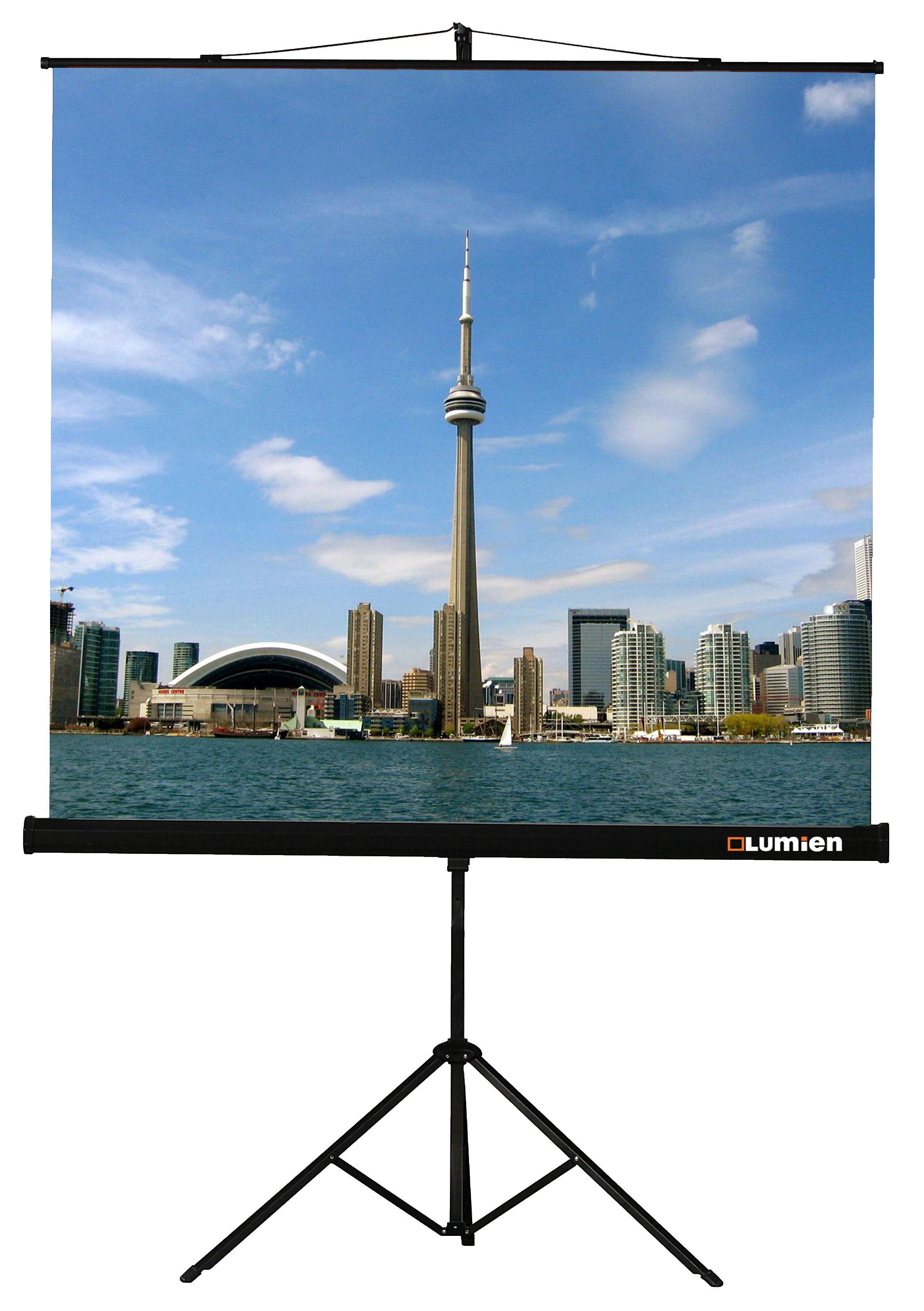"""Экран для проектора LUMIEN Eco View 110"""" 200х200 1:1 (LEV-100103) штатив"""