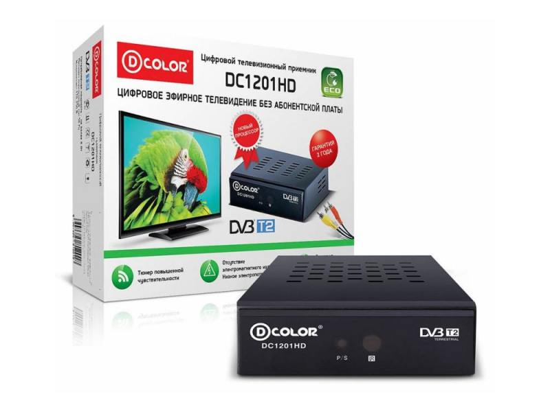 DVB-T2 ресивер D-color