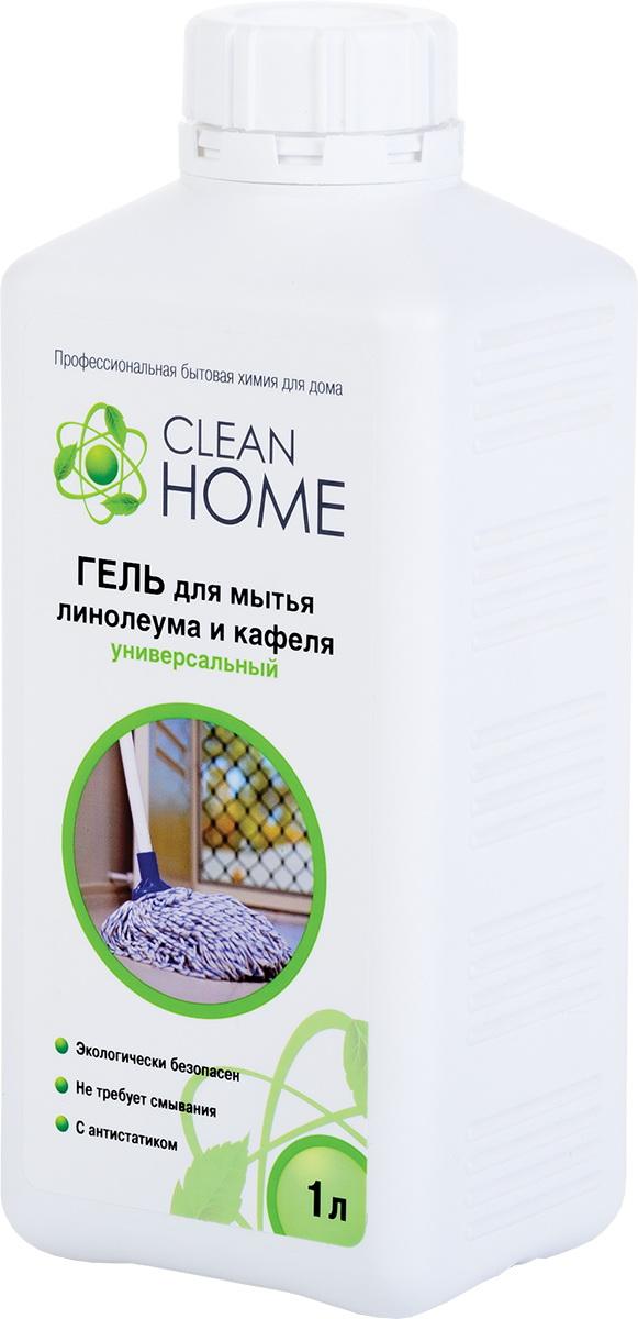 Инвентарь для уборки CleanHome Гель д/мытья линолеума и кафел1000мл 381