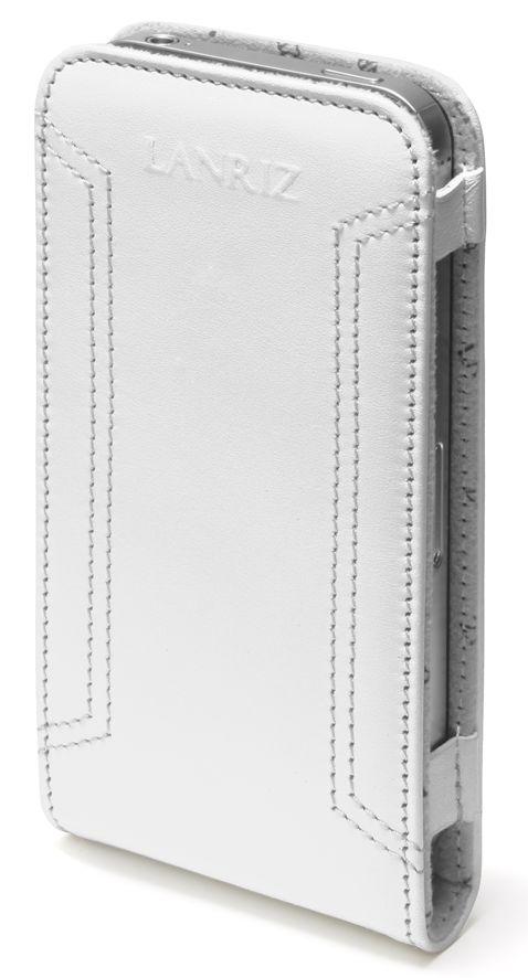 Фото Чехол Lanriz Magnet Flipper для iPhone 4/4S кожа белый (LIPHONE4MFWh)
