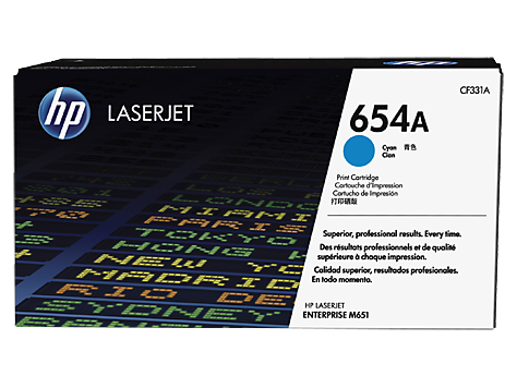 Картридж лазерный Hp 654a cf331a голубой для hp color laserjet enterprise m651n/m651dn/m651xh/m680dn/m680f/hp color la