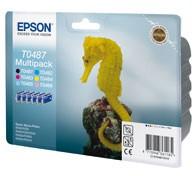 Картридж струйный Epson Картриджи струйные epson c13t04874010 черный+голубой+пурпурный+желтый+светло-пурп.+светло-голуб.