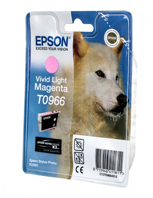 Картридж струйный Epson T0966 C13T09664010 светло-пурпурный R2880 (11 мл)