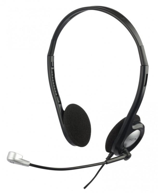 Наушники с микрофоном проводные Oklick