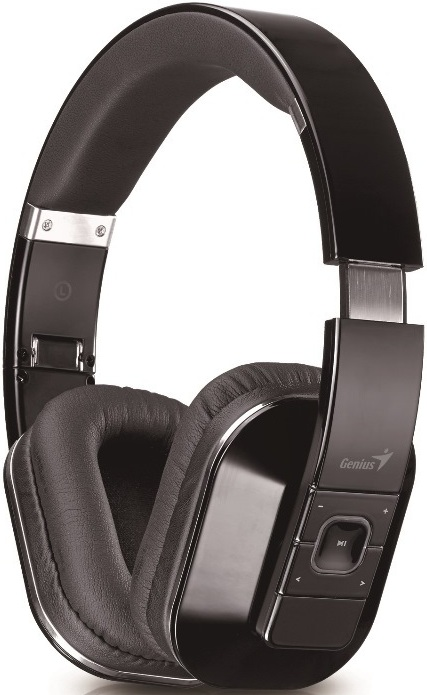 Наушники с микрофоном беспроводные Genius hs-970bt черный беспроводные bluetooth, nfc, aptx