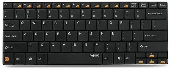 Клавиатура + мышь Rapoo 9020 клав:черный мышь:черный usb беспроводная slim multimedia