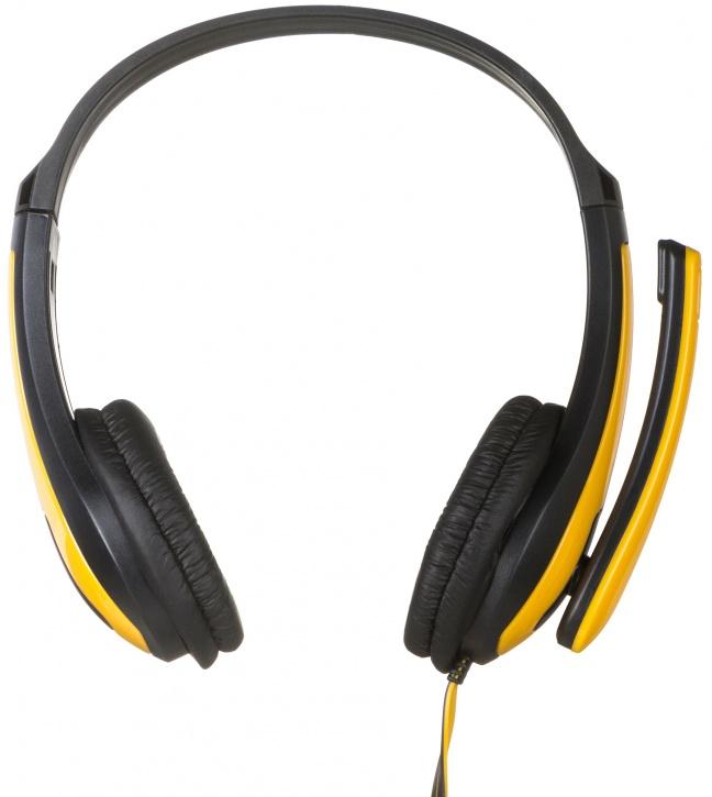 Фото Наушники с микрофоном проводные CANYON CNS-CHSC1BY Yellow-Black