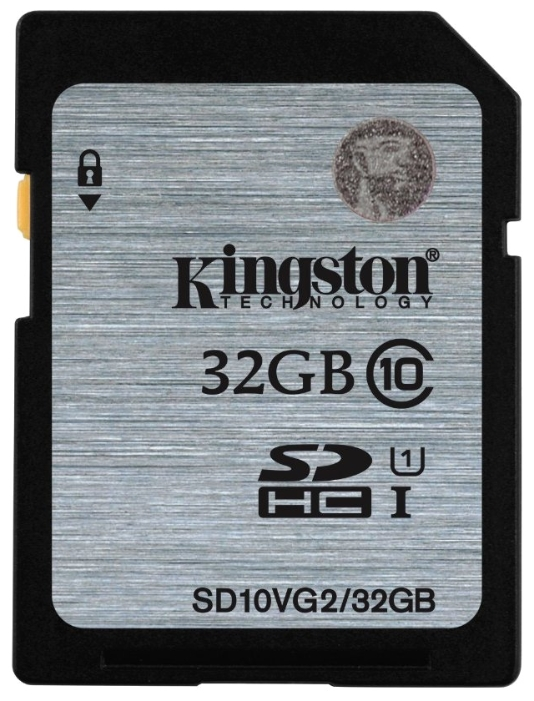 Карта памяти Kingston SDHC 32Gb Class 10 UHS-I 45MB/s (SD10VG2/32GB)