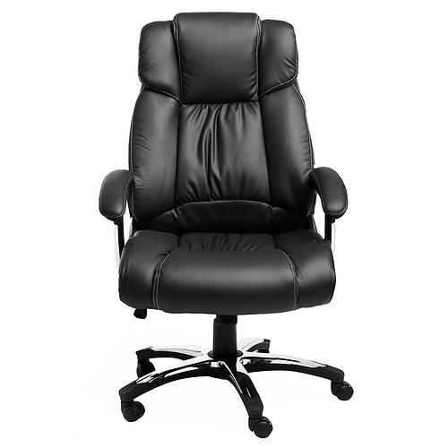 Кресло College кресло руководителя h-8766l-1 черный экокожа, 120 кг, подлокотники кожа/хром, крестовина хро
