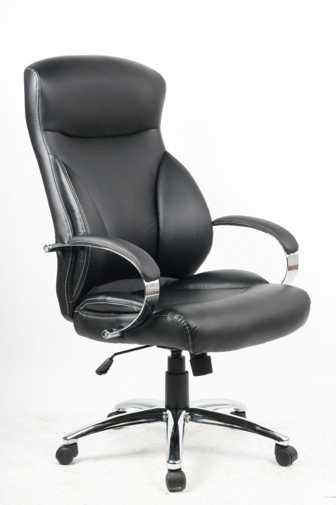 Кресло College Кресло руководителя college h-9582l-1k черный экокожа, 120 кг, подлокотники кожа/хром, крестовина хр