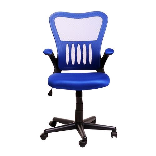 Кресло College кресло офисное hlc-0658f, синий, ткань, сетчатый акрил, 120 кг, крестовина и подлокотники че