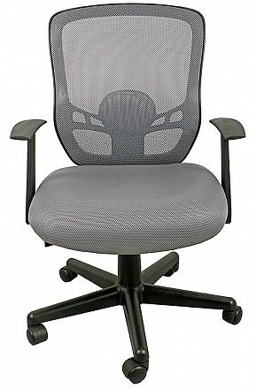 Кресло College кресло офисное hlc-0420f-1c-1 серый ткань, сетчатый акрил, 120 кг, крестовина и подлокотники
