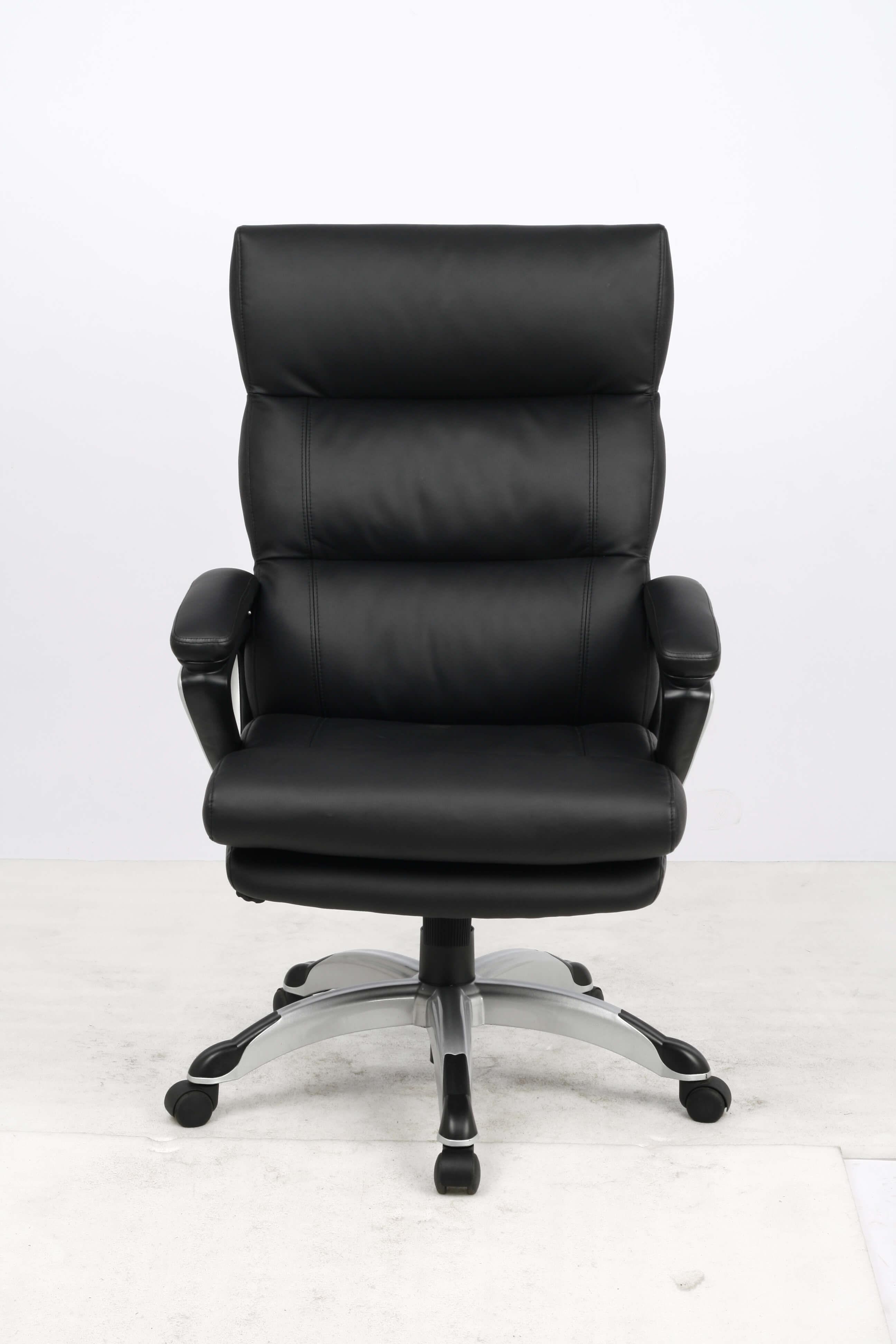 Фото College Кресло руководителя HLC-0802-1, черный, экокожа, 120 кг, подлокотники пластик/кожа, крестови