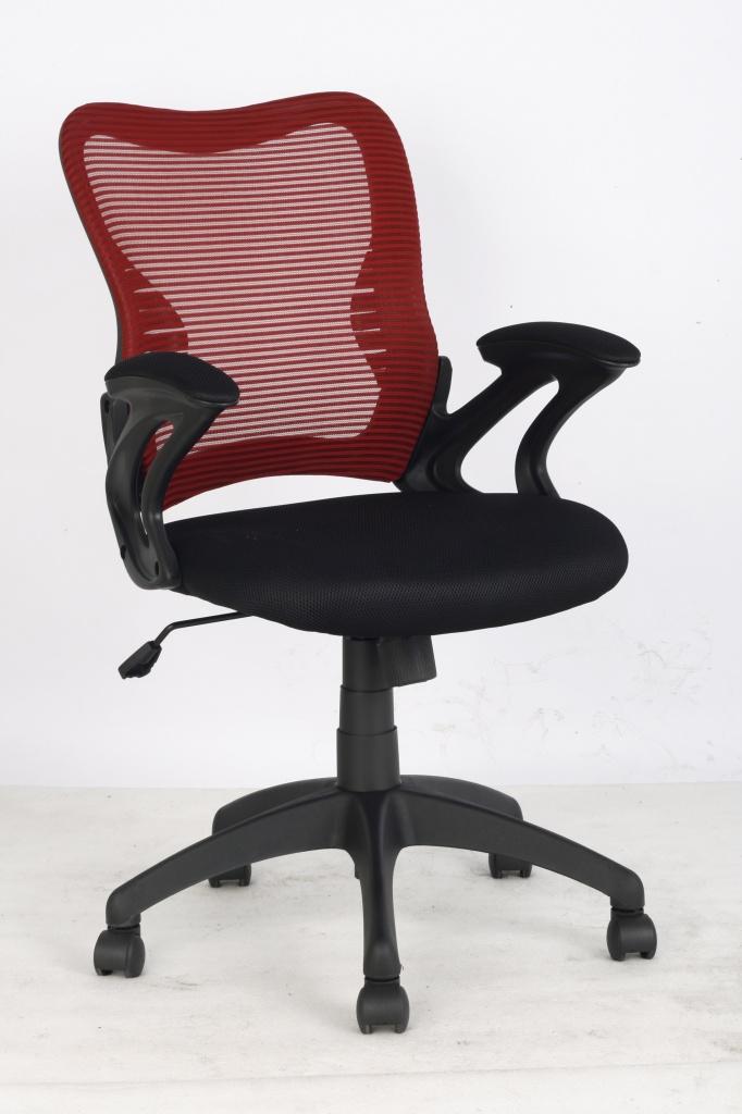 Кресло College кресло офисное hlc-0758f черный/красная сетка, сетчатый акрил, 120 кг, подлокотники с мягким