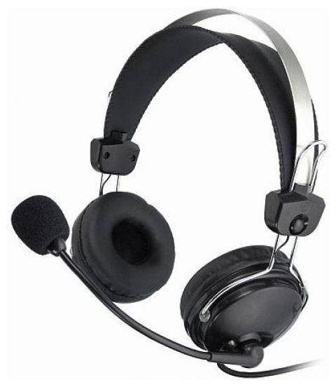 Наушники с микрофоном проводные A4tech