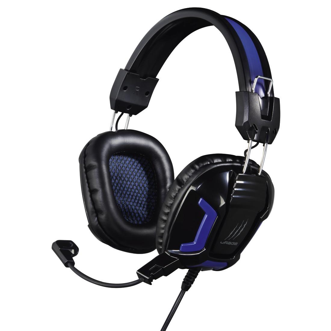 Наушники с микрофоном проводные Hama uRage SoundZ Essentia черный (оголовье)