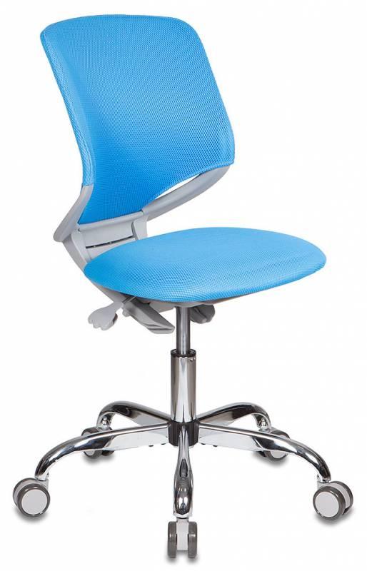 Кресло Бюрократ Кресло детское бюрократ kd-7/tw-55 голубой tw-55 крестовина хромированная колеса серый (пластик серы