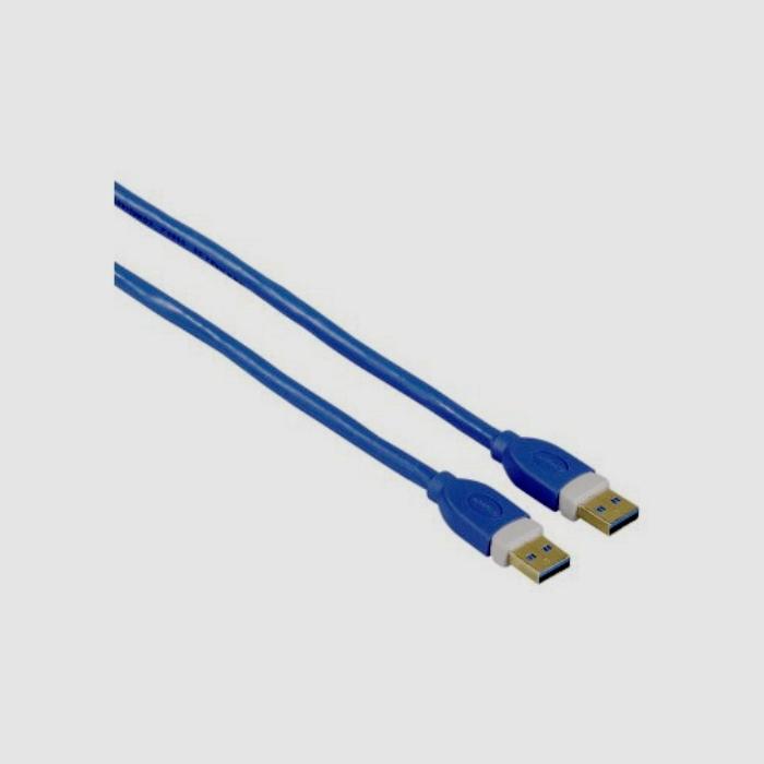 USB Кабель Hama H-39676 USB 3.0 A(m) - A(m) 1.8м позолоченные контакты экранированный 5 Гбит/с 3зв синий