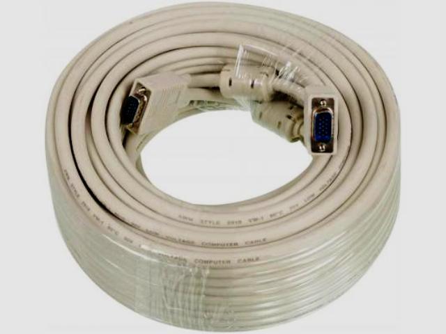 Видео кабель Ningbo VGA(m) - VGA(m) 30м Pro 2 фильтра (CAB016S-30m)