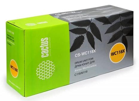 Картридж лазерный Cactus Картридж cactus cs-wc118x 013r00589 черный для xerox wc c118/m118 (60000стр.)