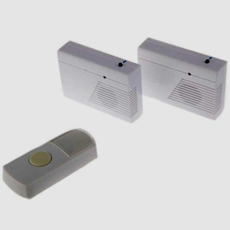 Дверной звонок ЭРА C27-2 беспроводной, два динамика