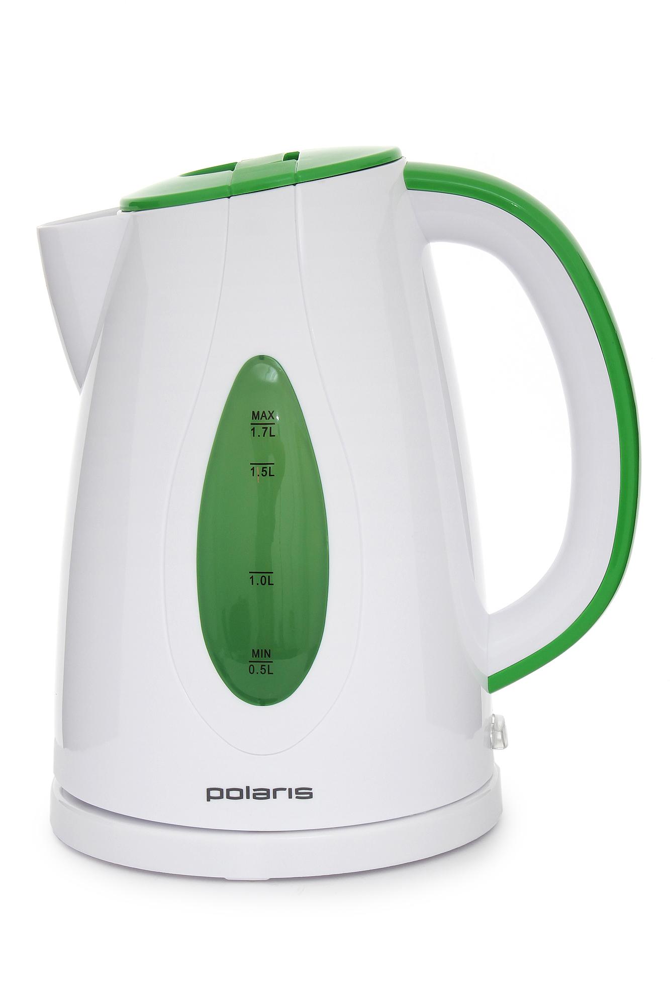 Фото Чайник электрический  POLARIS PWK 1752 C белый/зеленый