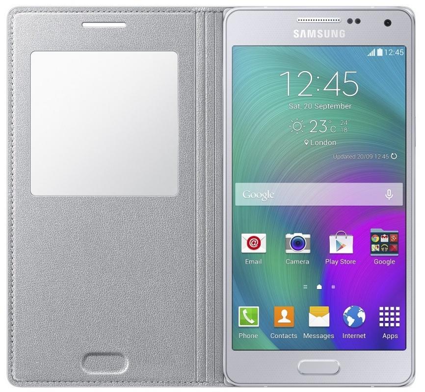 Фото Чехол Samsung S-View для Galaxy A5 (SM-A500) (EF-CA500BSEGRU) silver