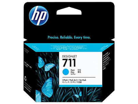 HP 711 CZ134A голубой x3уп. для HP DJ T120/T520 (29мл)