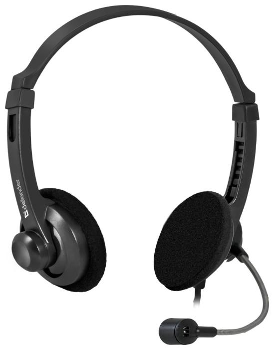 Наушники с микрофоном проводные Defender