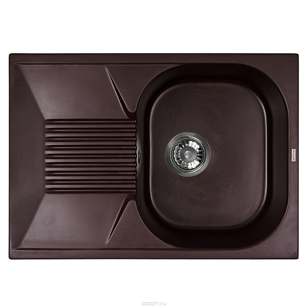 Кухонная мойка Weissgauff CLASSIC 695 Eco Granit шоколад
