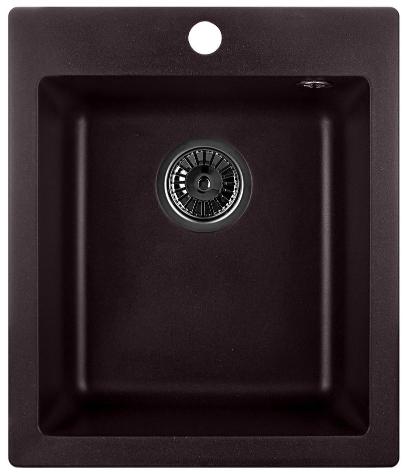 Кухонная мойка Weissgauff QUADRO 420 Eco Granit шоколад