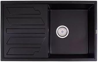 Кухонная мойка Weissgauff QUADRO 800 Eco Granit черный