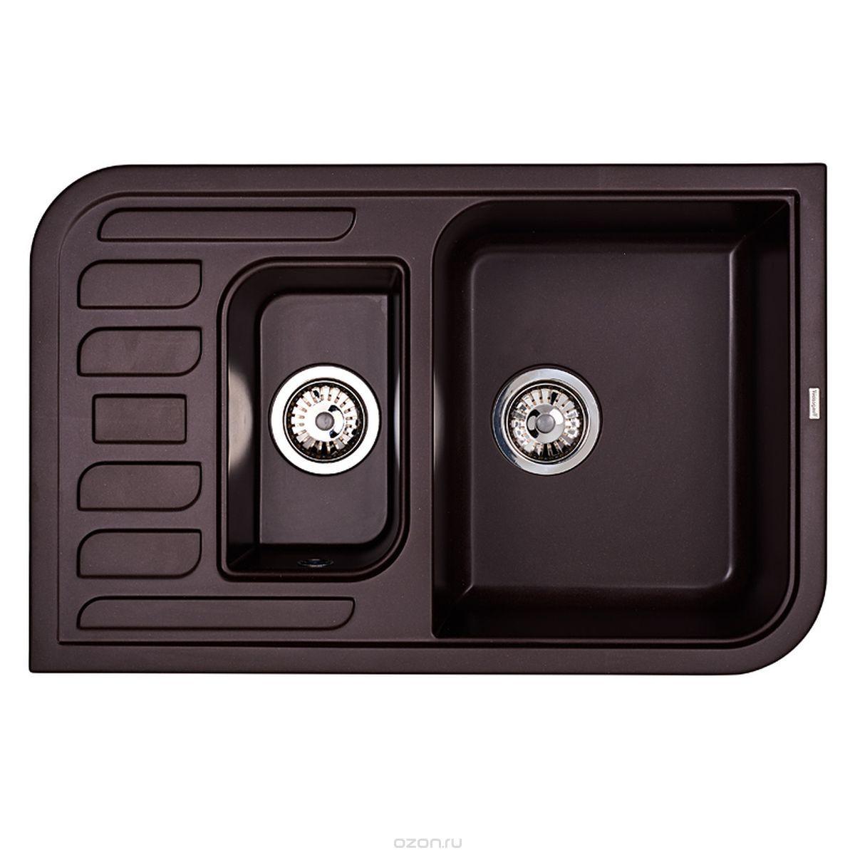 Кухонная мойка Weissgauff SOFTLINE 780 Eco Granit шоколад
