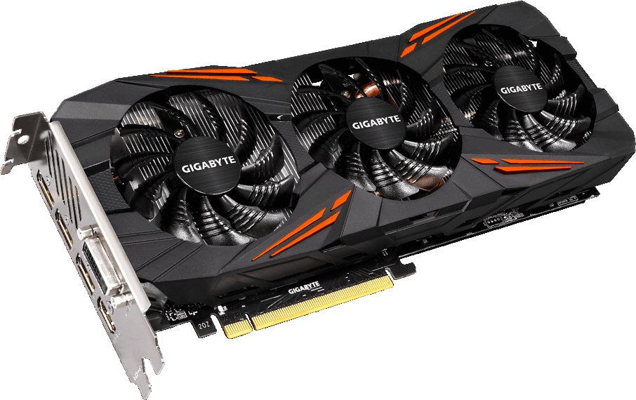 Фото Видеокарта Gigabyte PCI-E GV-N1080G1 GAMING-8GD nVidia GeForce GTX 1080 8192Mb 256bit Ret