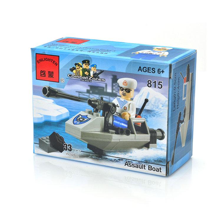 Конструктор ENLIGHTEN BRICK C815 Штурмовая лодка 33дет.
