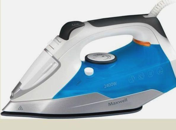 Утюг MAXWELL MW-3028 голубой