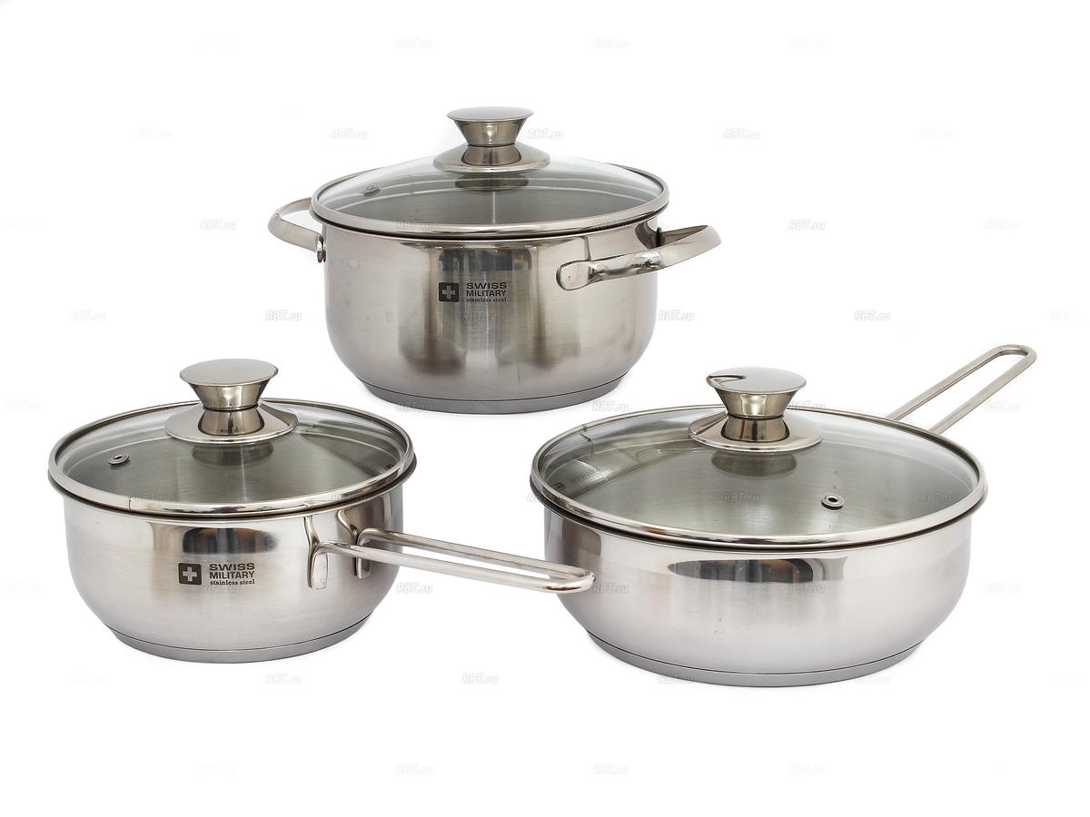 Набор посуды Swissmilitary Basel plus pot