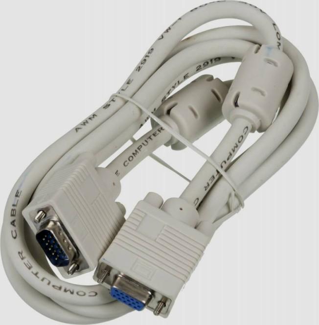 Видео кабель Ningbo CAB015S-06F VGA(m) - VGA(f) удлинитель 1.8м феррит.кольца