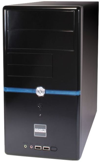 Корпус Gigabyte GZ-M2 черный без БП mATX 2xUSB2.0 audio AirDuct