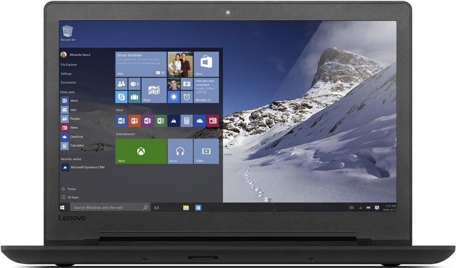 Ноутбук Lenovo IdeaPad 110-15IBR /80T700C4RK/ intel 3710/4Gb/500Gb/DVDRW/15.6/WiFi/Win10