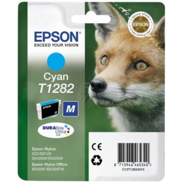 Картридж струйный Epson Картридж epson (c13t12824011) голубой