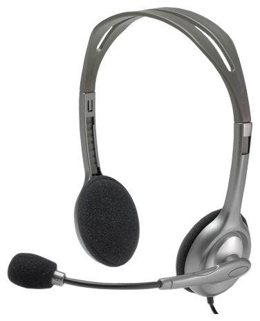 Наушники с микрофоном проводные Logitech