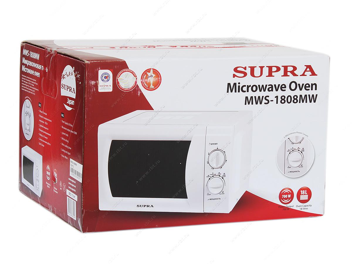 Фото Микроволновая печь SUPRA MWS-1808 MW