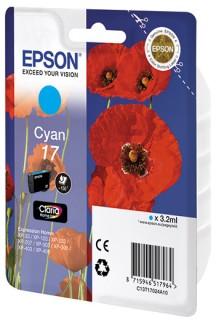 Картридж струйный Epson Картридж epson t17024a10 синий
