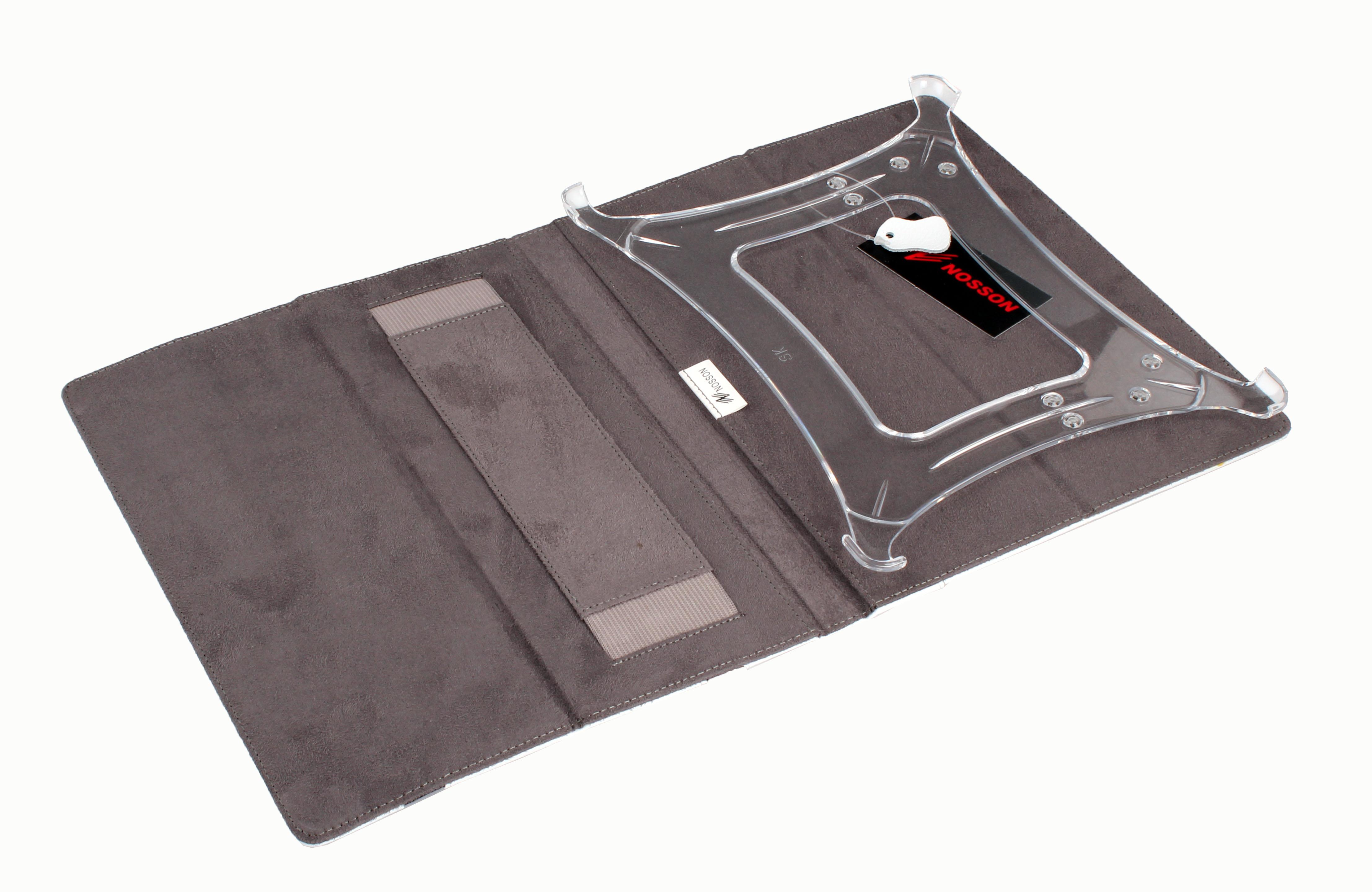 Купить Чехлы и сумки для планшетных ПК ipad 2/3  (кожа) белый,  2 black line  Чехол для планшетного ПК Nosson
