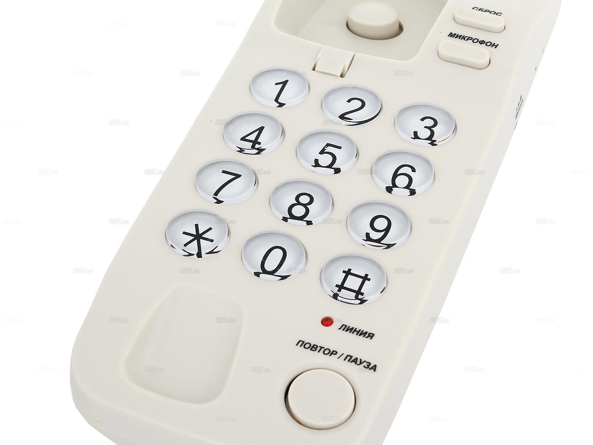 Фото Проводной телефон TeXet TX-226 светло-серый