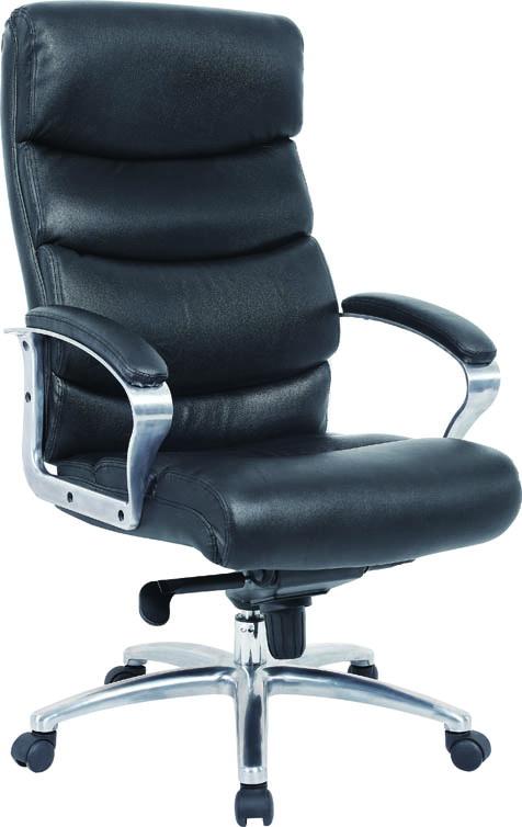 Кресло Excomp by-6060 кресло/кожа+кожзам/черный