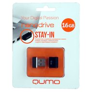 Флеш-диск USB 2.0 QUMO 16GB Nano Black